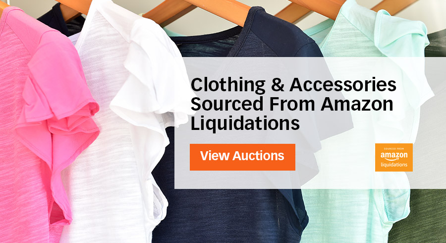 Stock up on Clothing and Accessories Sourced From Amazon Liquidations