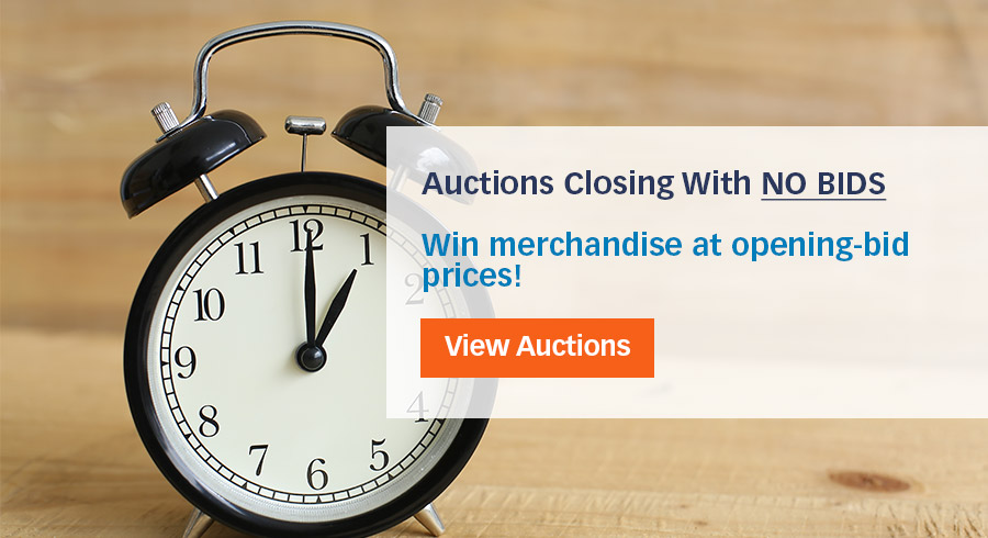 Need merchandise fast and cheap? Bid on these auctions closing soon without the competition!