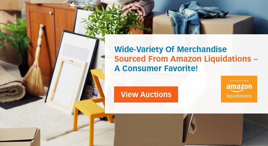 Select from a variety of merchandise sourced from Amazon Liquidations - a consumer favorite!