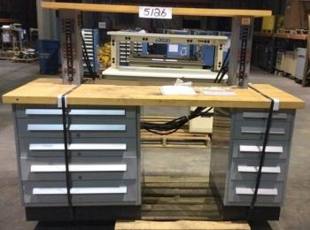 Electronics Technician Work Bench Mfg Or Model Unknown Wood Top 72 L X 30 W 57 35 Table Height 2 5 Dra